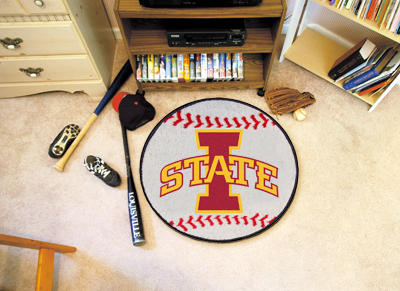 "Iowa State Baseball Mat 27″"" diameter"