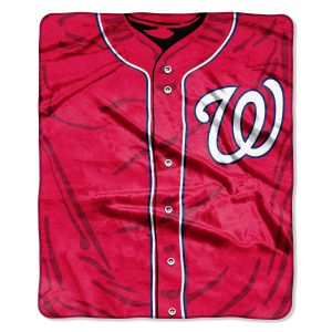 """Nationals OFFICIAL Major League Baseball, """"""""Jersey"""""""" 50″""""x 60″"""" Raschel Throw  by The Northwest Company"""