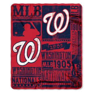 """Nationals OFFICIAL Major League Baseball, """"""""Strength"""""""" 50″""""x 60″"""" Fleece Throw  by The Northwest Company"""