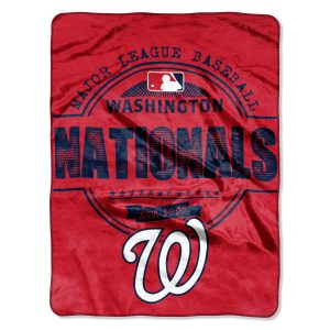"""Nationals OFFICIAL Major League Baseball, """"""""Structure"""""""" 46″""""x 60″"""" Micro Raschel Throw  by The Northwest Company"""