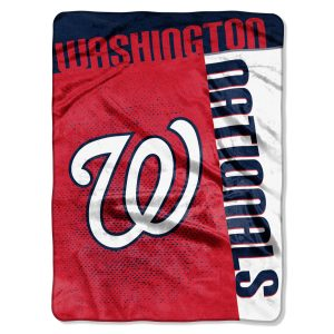 """Nationals OFFICIAL Major League Baseball, """"""""Strike"""""""" 60″""""x 80″"""" Raschel Throw  by The Northwest Company"""