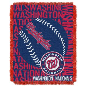 """Nationals OFFICIAL Major League Baseball, """"""""Double Play"""""""" 46″""""x 60″"""" Triple Woven Jacquard Throw  by The Northwest Company"""
