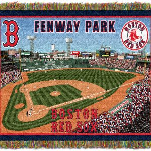 """New Fenway Park OFFICIAL Major League Baseball, """"""""Stadium"""""""" 48″""""x 60″"""" Woven Tapestry Throw  by The Northwest Company"""