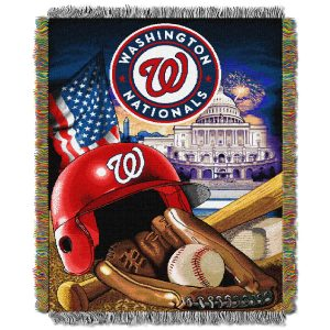 """Nationals OFFICIAL Major League Baseball, """"""""Home Field Advantage"""""""" 48″""""x 60″"""" Woven Tapestry Throw  by The Northwest Company"""