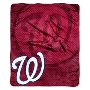 """Nationals OFFICIAL Major League Baseball, """"""""Retro"""""""" 50″""""x 60″"""" Raschel Throw  by The Northwest Company"""